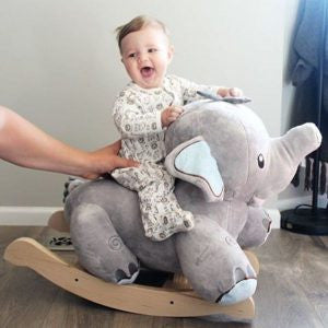 Stomp Elephant Plush Toy Rocker