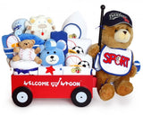 Super Deluxe Baby Boy Welcome Wagon Gift Set