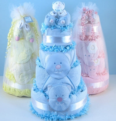 Baby Shower Diaper Cake in Pink