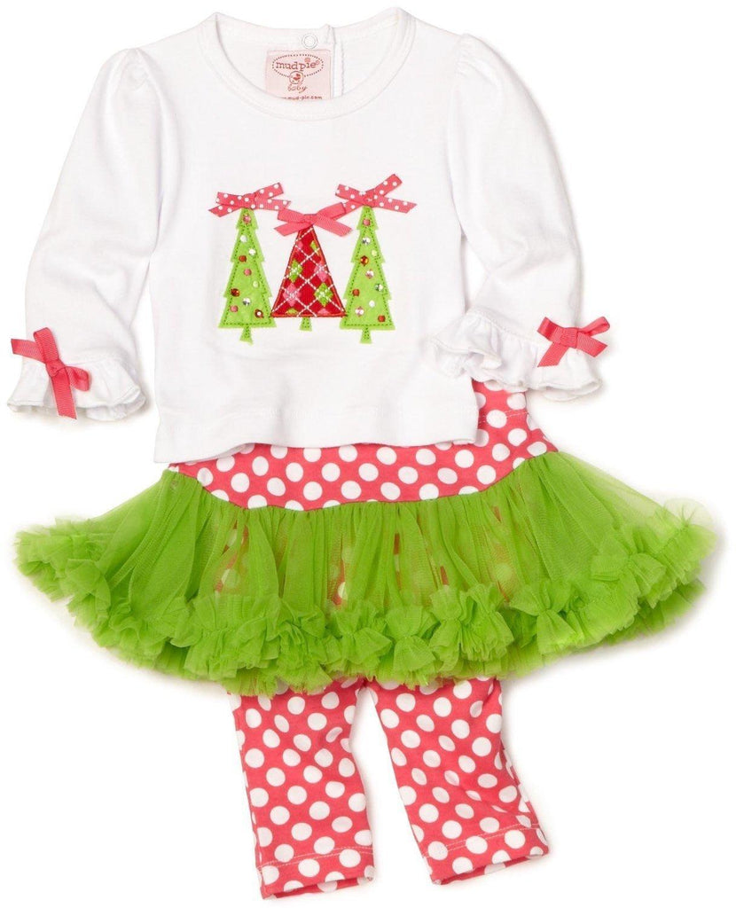 Triple Tree Holiday Outfit by Mudpie (#SBGB13) - Stork Baby Gift Baskets