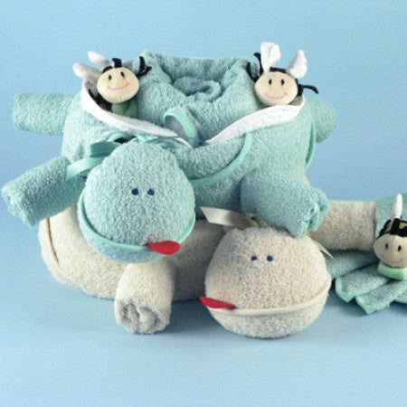Two Turtles Twins Gift Set (#BGC73) - StorkBabyGiftBaskets