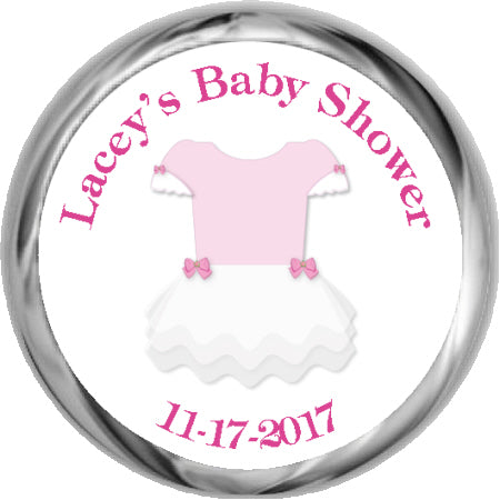 Tutu Cute Personalized Baby Shower Sticker (#HKS410)