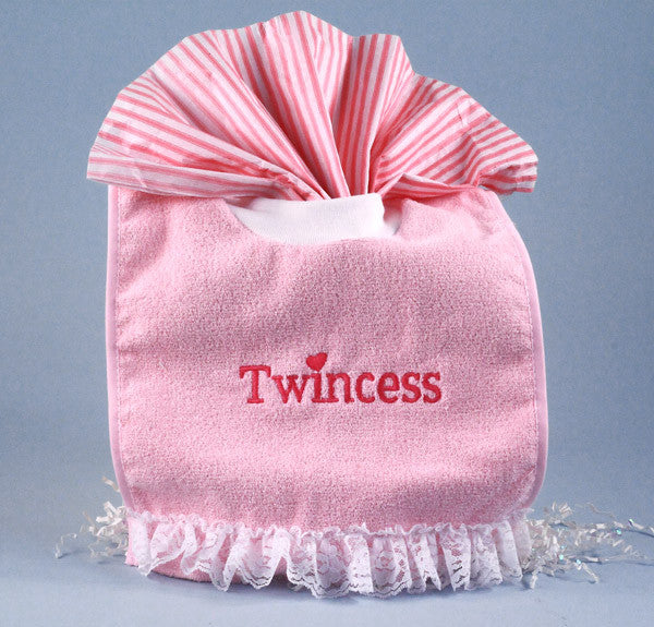 """Twincess & Two-riffic"" For Twin Babies (#BGC127) - Stork Baby Gift Baskets - 2"