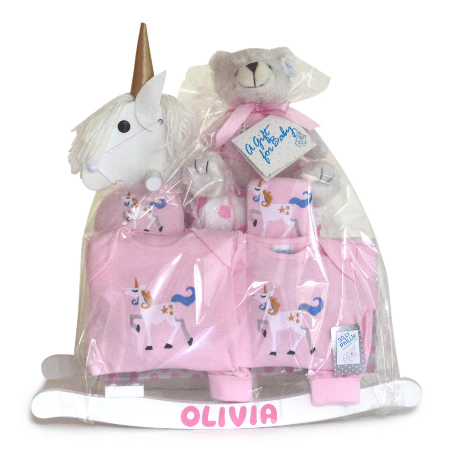 Unicorn Rocking Horse Gift Set - Girl (#BGC-URHG)