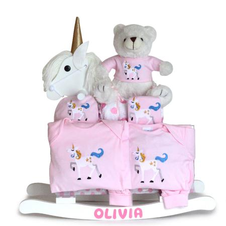 Unicorn Rocking Horse Gift Set - Girl