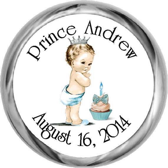 Chalkboard Prince 1st Birthday - Boy's First Birthday (#KBI114)