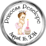 Vintage Princess 1st Birthday - Personalized Candy KISSES