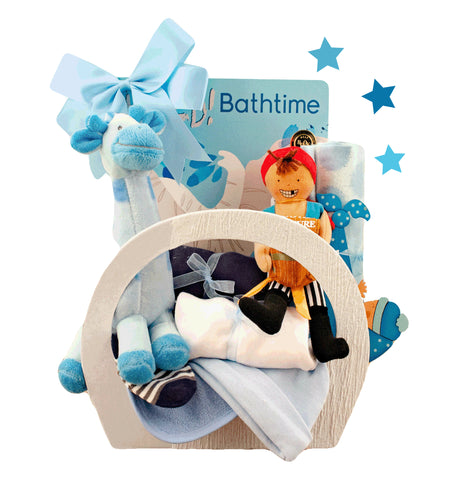 Timeless Classics Gift Basket for Newborns (#BBB33)