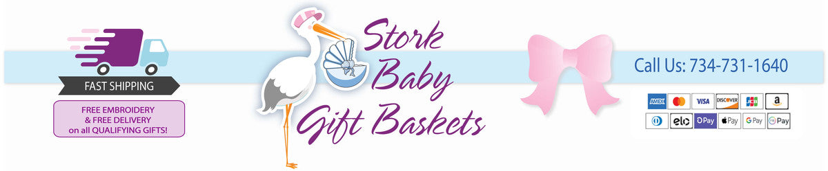 Baby gifts baby shower gifts unique personalized baby gift storkbabygiftbaskets negle Gallery