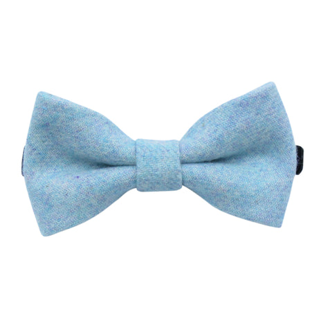 Boys Blue Tweed Matching Bow Tie