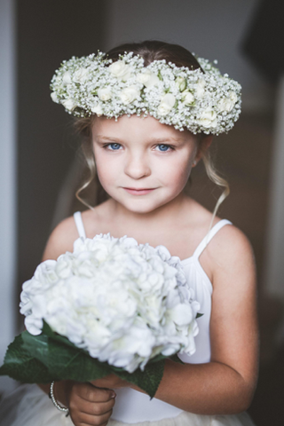 Bridesmaid floral headpiece rustic wedding