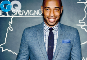 Thierry Henry (GQ) suit and tie style
