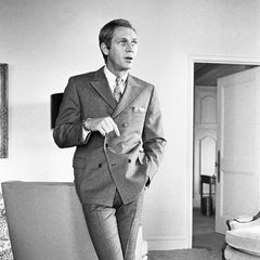 Steve Mcqueen double breasted suit shirt tie and pocket square