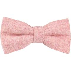 Dickie bow's pink wool bow tie and pocket square wedding day