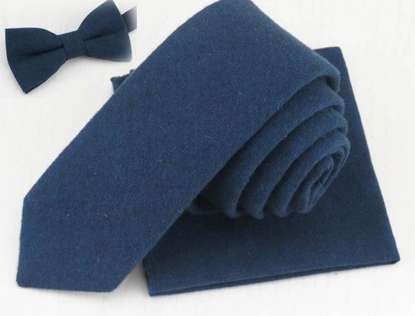 Oliver Navy Blue Pocket Square | Dickie Bow