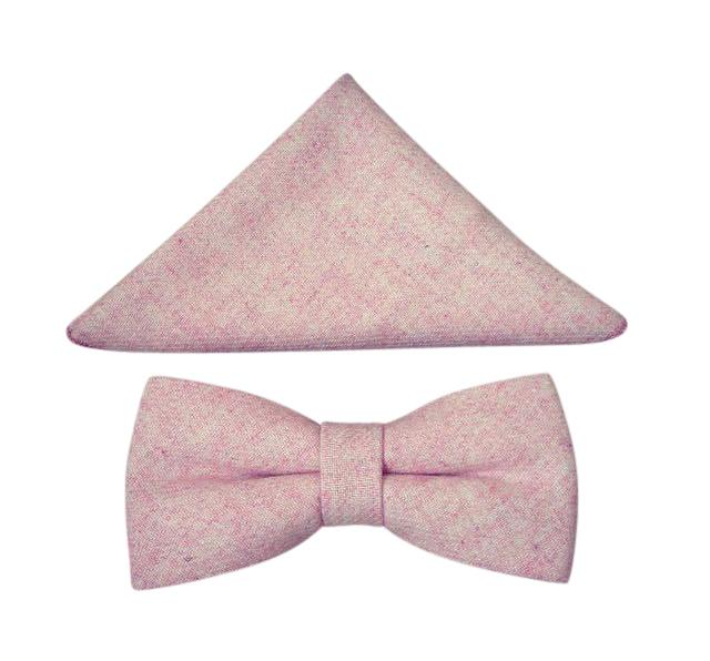 Leah Mens Dusty Pink Bow Tie and Pocket Square | Dickie Bow