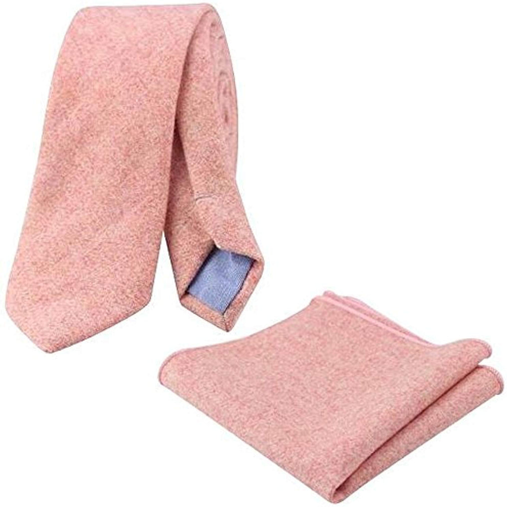 Ariah Country Pink Skinny Tweed Tie and Pocket Square Set | Dickie Bow
