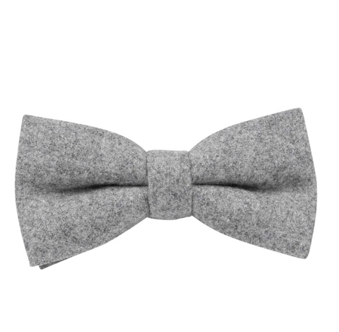 Amelia Grey Tweed Bow Tie