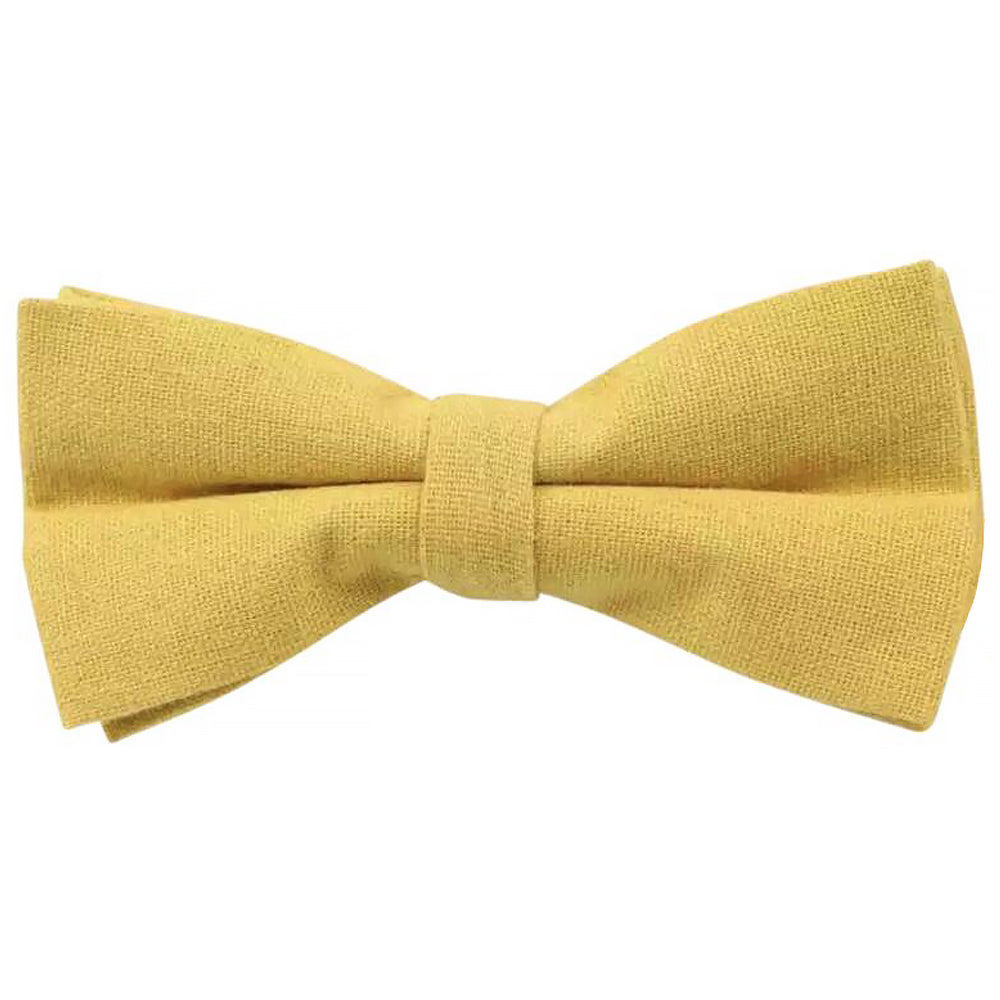 Alfie Cotton Mustard Yellow Bow Tie