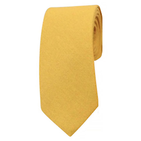 Alfie Mustard Yellow Cotton Tie | Dickie Bow