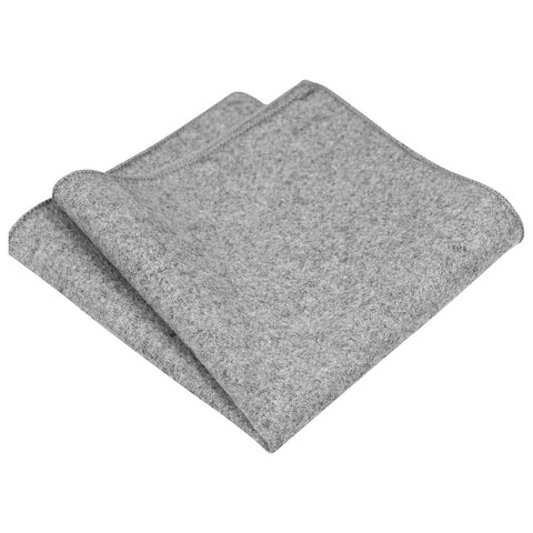 Amelia Tweed Grey Pocket Square