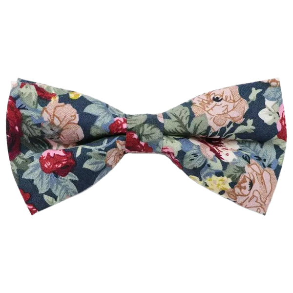Bobby Blue Floral Bow Tie and Pocket Square Set | Dickie Bow