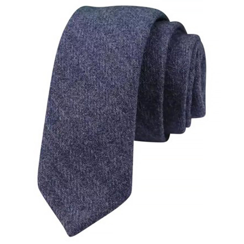 Boris Deep Blue Wool Slim Tie