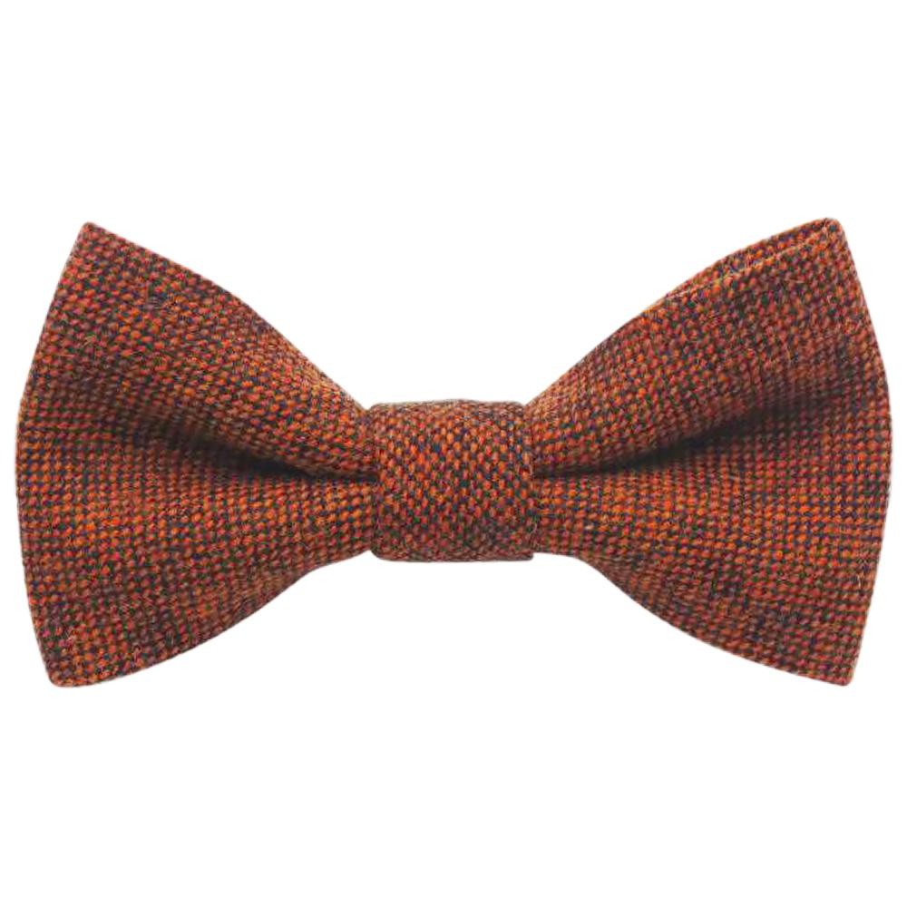 Charlie Boys Orange Brown Wool Bow Tie