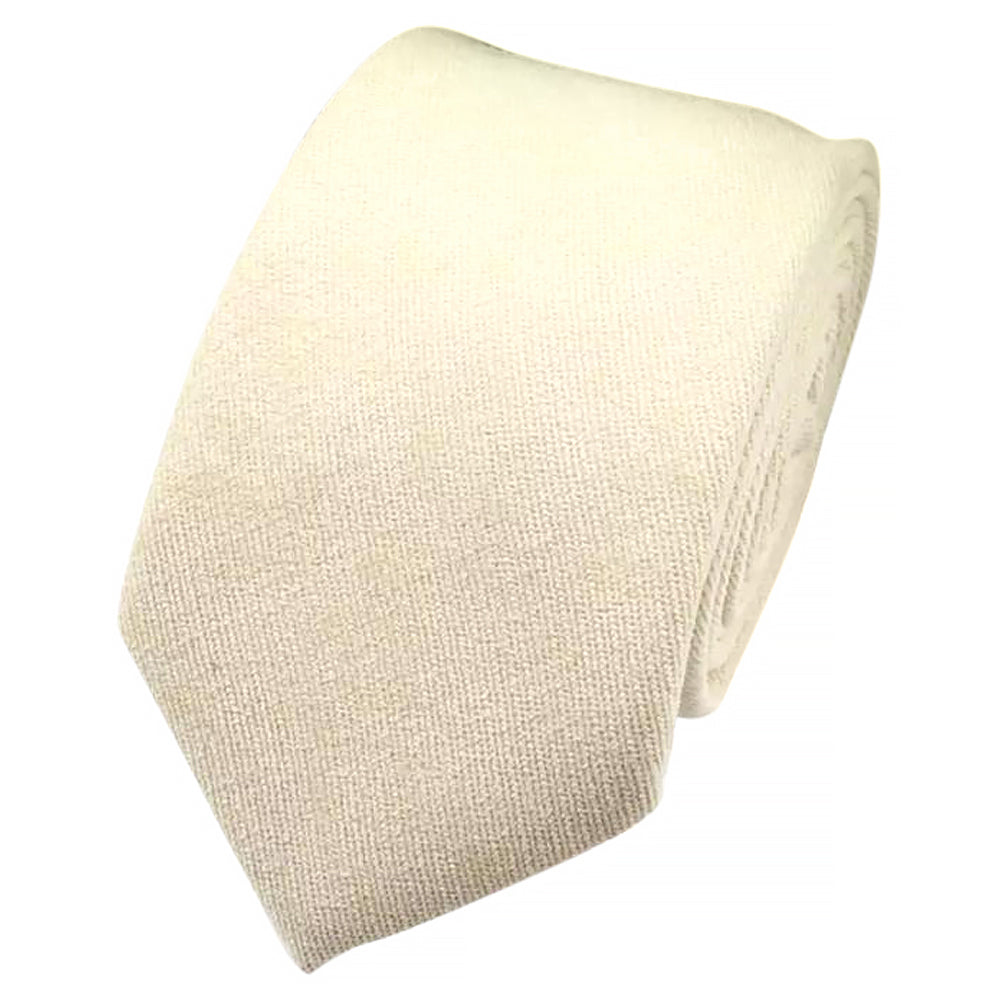 Christian Plain White Cotton Tie