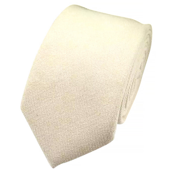 Christian Plain White Cotton Tie and Pocket Square Set