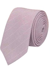 Daisy Dusty Pink Stripe Tie and Pocket Square | Dickie Bow