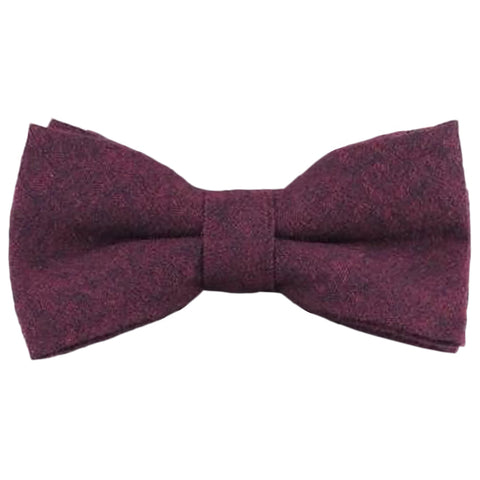 Emily Cotton Burgundy Bow Tie