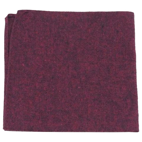 Emily Cotton Burgundy Pocket Square