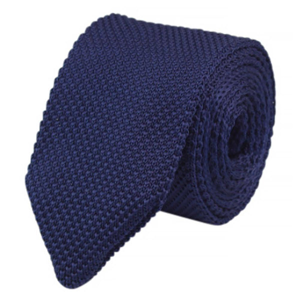 Frankie Waffle Navy Blue Knitted Tie