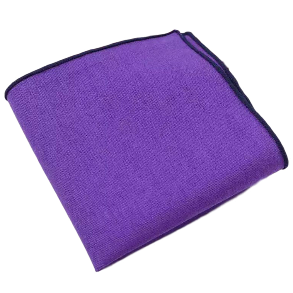 Harper Cotton Purple Pocket Square