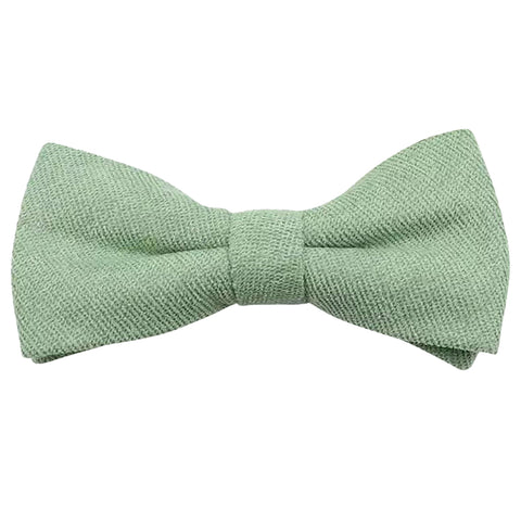 Harrison Sage Green Cotton Blend Bow Tie