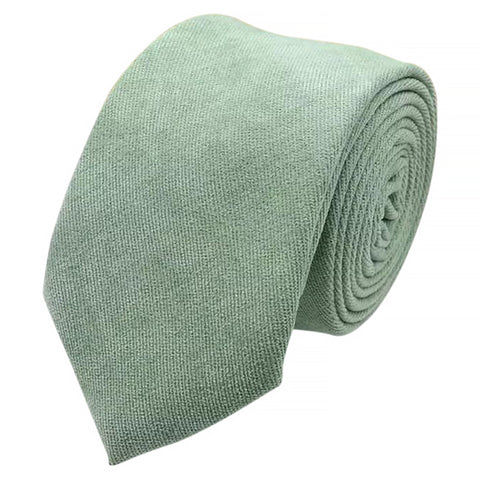 Harrison Sage Green Cotton Blend Skinny Tie