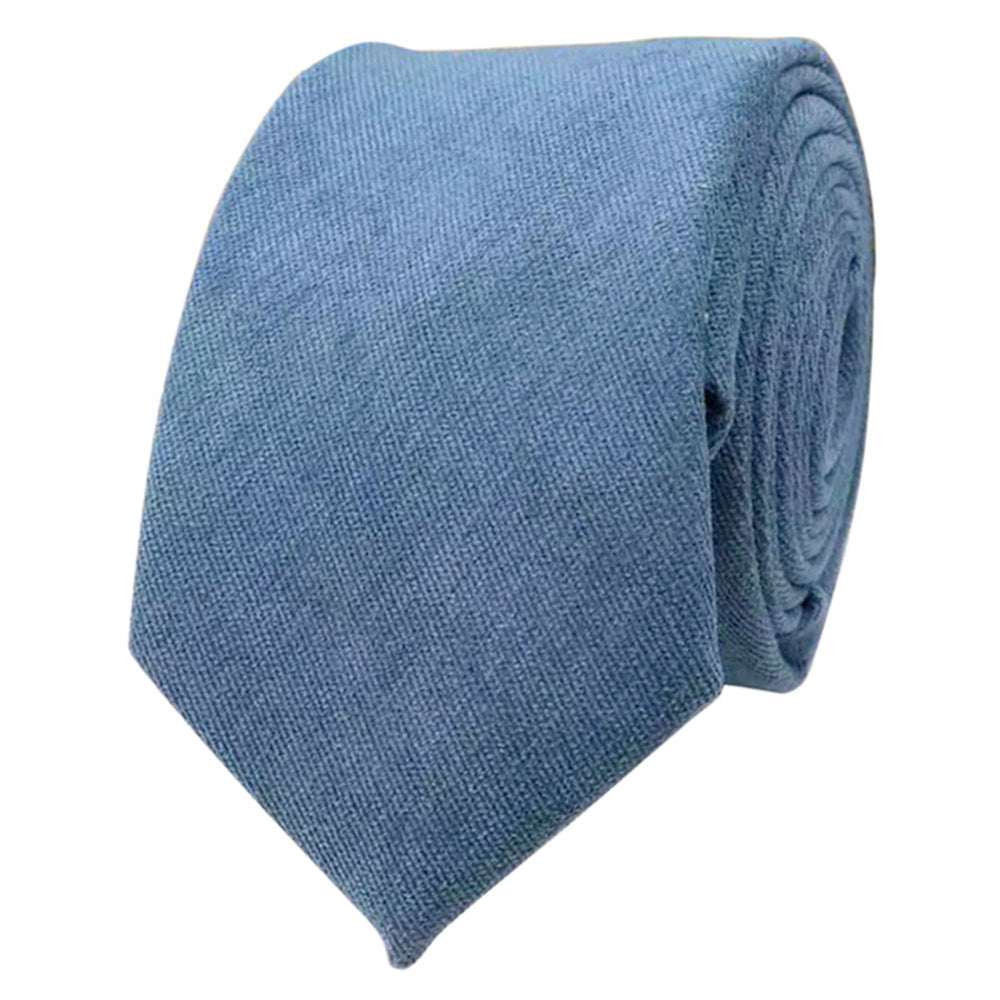 Hux Peacock Teal Blue Cotton Tie
