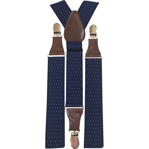 Polka Dot Adults Navy Blue Braces