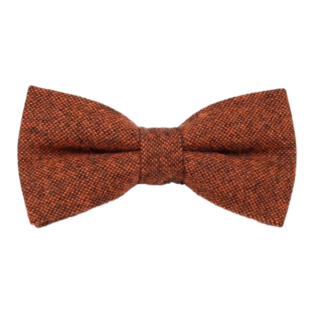 Charlie Burnt Orange Tweed Bow Tie
