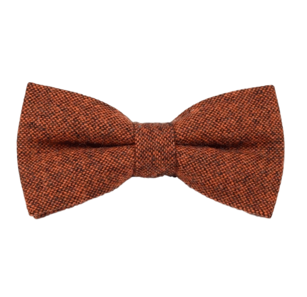 Charlie Burnt Orange Tweed Bow Tie | Dickie Bow