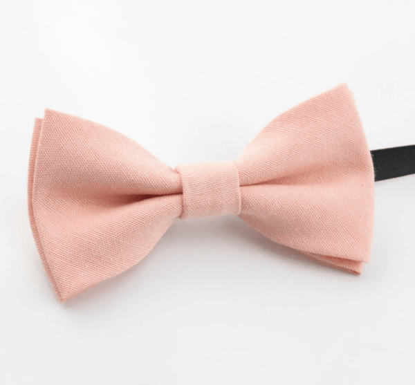 Romeo Boys Blush Pink Bow Tie and Grey Braces | Dickie Bow