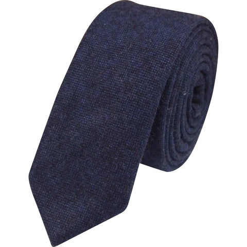 Arthur Navy Blue Skinny Tie - Dickie Bow Tie, Neck Ties and Pocket Square