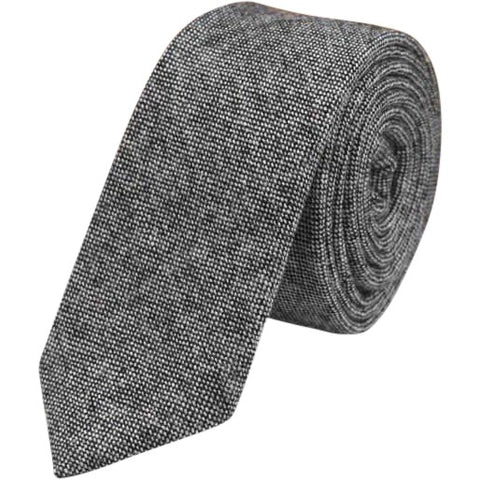 Jessica Charcoal Grey Skinny Tie - Dickie Bow Tie, Neck Ties and Pocket Square