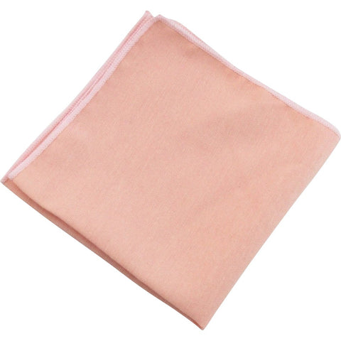 Romeo Blush Pink Peach Pocket Square | Dickie Bow
