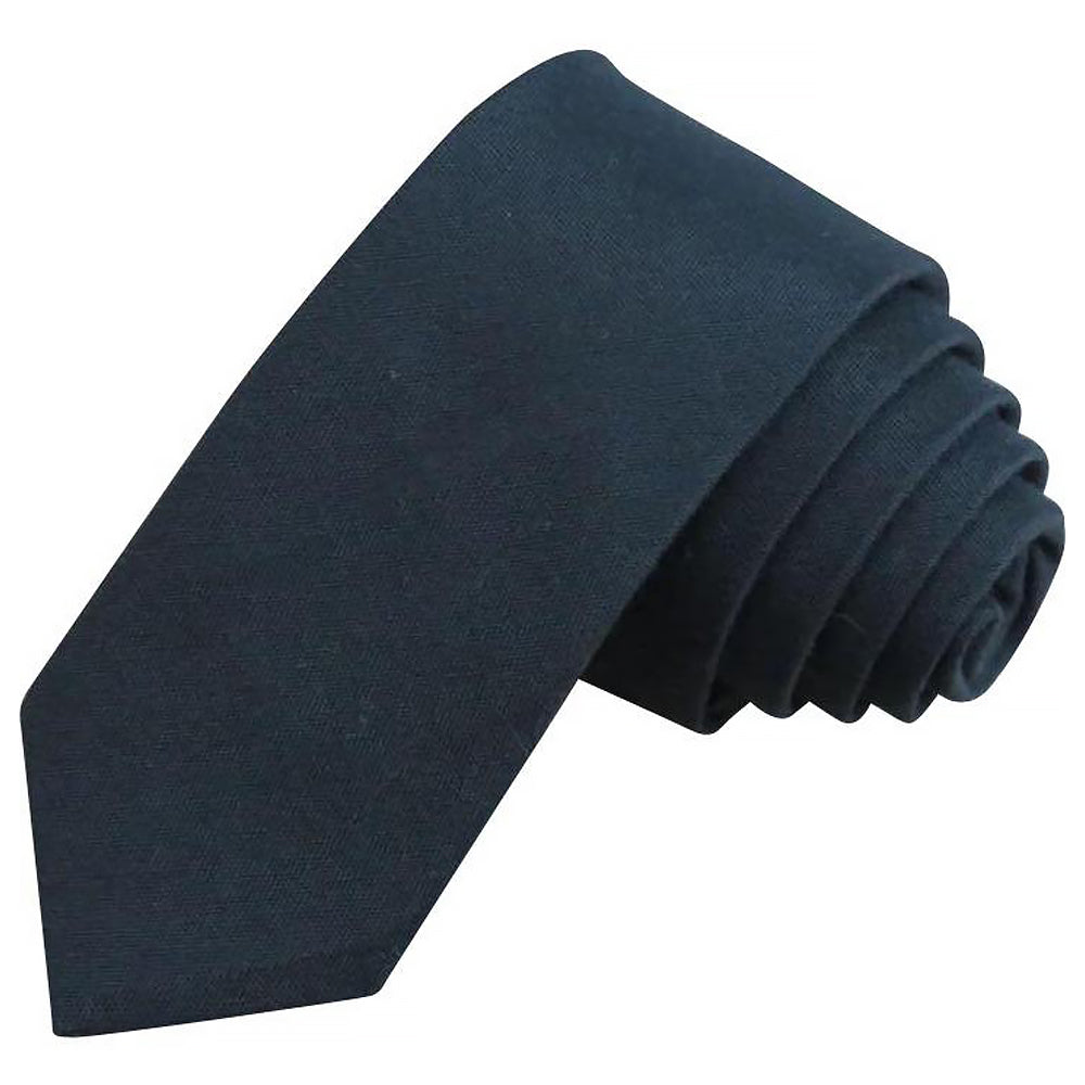 James Cotton Black Skinny Tie