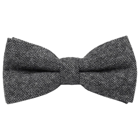 Jessica Charcoal Grey Tweed Bow Tie | Dickie Bow