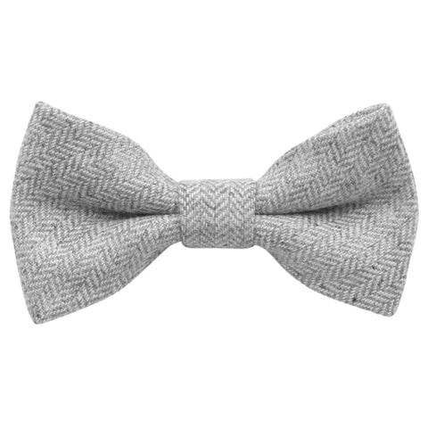 Laurie Boys Grey Wool Bow Tie