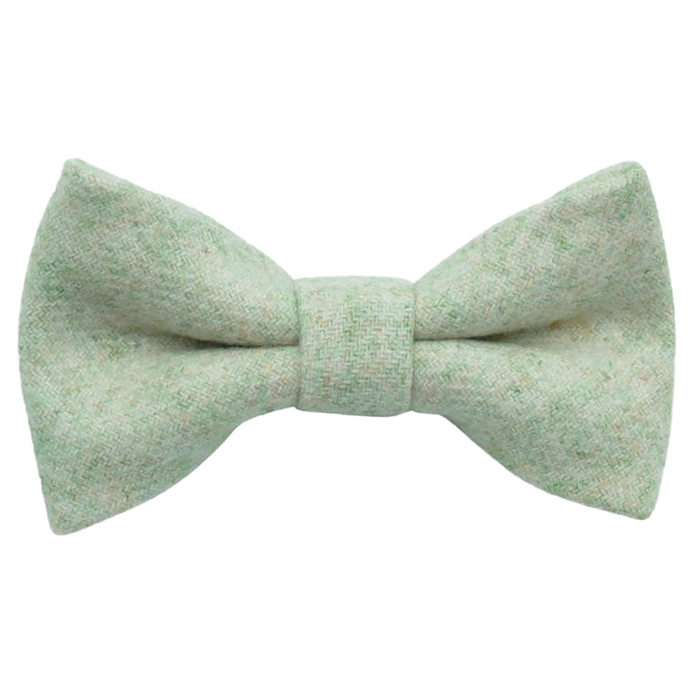 Morris Boys Green Wool Bow Tie