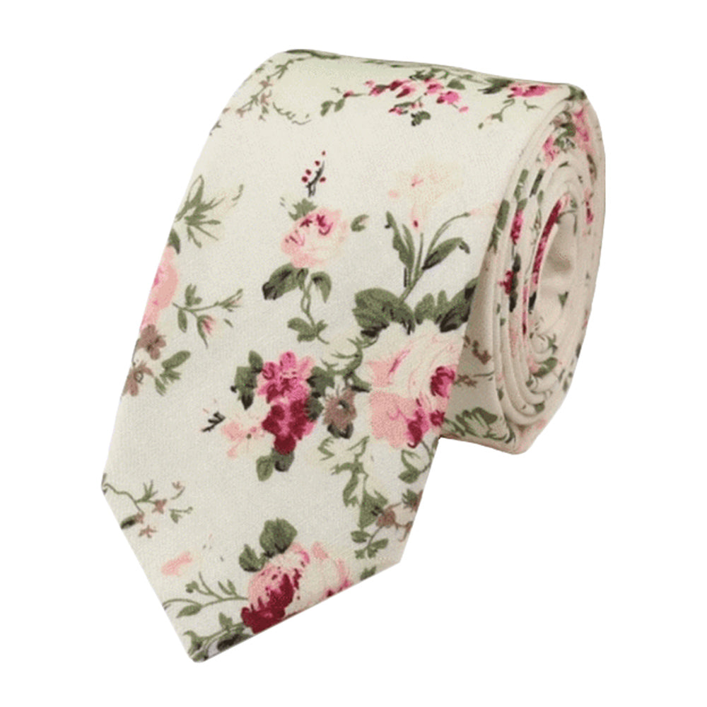 Olivia Cream Floral Tie | Dickie Bow